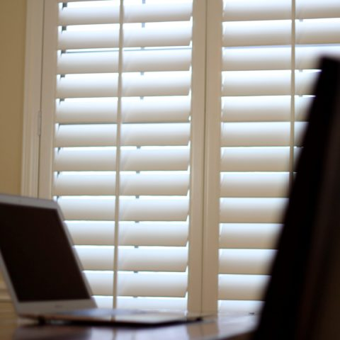 Office Window Covering using Shutters